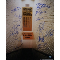 Notre Dame Fighting Irish Greats 16x20 Photo Team-Signed by (14) with Jerome Bettis, Joe Montana, Rudy Ruettiger, Ara Parseghain (Steiner COA)