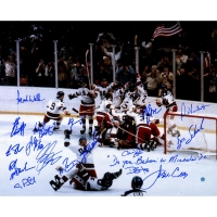 "1980 Team USA ""Miracle on Ice"" 16x20 Photo Team-Signed by (17) with Craig Patrick, Mike Eruzione, Jack O'Callahan, Jim Craig (Steiner COA)"