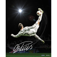 "Cristiano Ronaldo Signed Real Madrid ""Bicycle Kick"" 16x20 Photo (Icons COA)"
