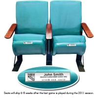 Pair of Authentic Teal Madison Square Garden Seats (Steiner COA)