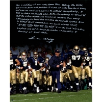 Lou Holtz Signed Notre Dame Fighting Irish 16x20 Photo with Handwritten Story Inscription (Steiner COA)