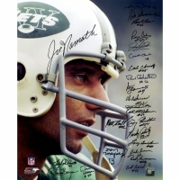 1969 Jets 16x20 Photo Team-Signed by (24) with Joe Namath, Don Maynard, Emerson Boozer (Steiner COA)