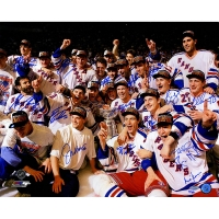 1994 New York Rangers Stanley Cup LE 16x20 Photo Team-Signed by (17) with Mark Messier, Brian Leetch, Mike Richter, Adam Graves (Steiner COA)