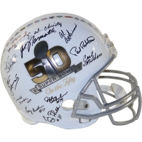 1969 Jets Super Bowl 50 Full-Size Helmet Team-Signed by (23) with Joe Namath, Don Maynard, Earl Christy (Steiner COA)