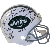 1969 Jets Full-Size Authentic On-Field Helmet Team-Signed by (24) with Joe Namath, Emerson Boozer, Don Maynard (Steiner COA)