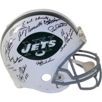 1969 New York Jets Full-Size Authentic Proline Helmet Team-Signed by (24) with Joe Namath, Emerson Boozer, Don Maynard (Steiner COA)