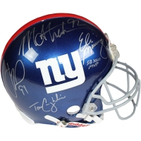 New York Giants Full-Size Authentic Pro-Line Helmet Team-Signed by (4) with Eli Manning, Michael Strahan, Justin Tuck & Tom Coughlin (Steiner COA)