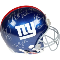 New York Giants Full-Size Helmet Team-Signed by (4) with Eli Manning, Michael Strahan, Justin Tuck & Tom Coughlin (Steiner COA)