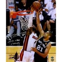 "LeBron James Signed Heat ""2013 Finals"" 16x20 Photo Inscribed ""2013 NBA Champ"" (UDA COA)"