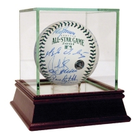 2001 All-Star Game Logo Baseball Team-Signed by (20) with High Quality Display Case (Steiner COA)