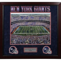 NY Giants Greats Multi Signed 16x20 Custom Framed Photo with (18) Signatures Including Lawrence Taylor, Eli Manning (Steiner COA)