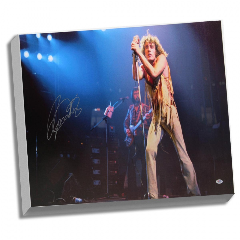 Roger Daltrey Signed 25x36 Canvas (PSA Hologram) at PristineAuction.com