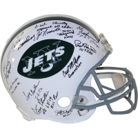 1969 New York Jets Full-Size LE 65-77 Throwback Proline Helmet Team-Signed by (24) with Joe Namath, Emerson Boozer, Don Maynard (Steiner COA)