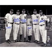"New York Yankees ""Final Game at Yankee Stadium"" 16x20 Metallic Photo Team-Signed by (6) with Yogi Berra, Don Larsen, Jorge Posada (Steiner COA & MLB Hologram)"