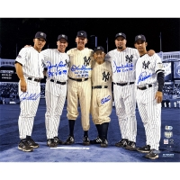 "New York Yankees ""Final Game at Yankee Stadium"" 16x20 Photo Team-Signed by (6) Perfect Game Battery Mates with Yogi Berra, Don Larsen (Steiner COA & MLB)"