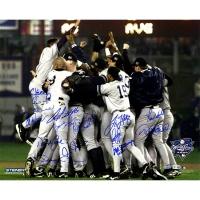 New York Yankees 2000 World Series 16x20 Photo Team-Signed by (15) with Mariano Rivera, Derek Jeter, Chris Chambliss, Jorge Posada (Steiner COA & MLB)