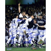 New York Yankees 1996 World Series 16x20 Photo Team-Signed by (23) with Jorge Posada, Andy Pettitte, Mariano Rivera (Steiner COA & MLB)