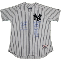 New York Yankees Dynasty LE Yankees Jersey Team-Signed by (11) with Andy Pettitte, Mariano Rivera, Derek Jeter (Steiner COA)