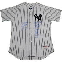 New York Yankees Dynasty LE Authentic #6 Pinstripe Jersey Team-Signed by (11) with Joe Torre, Derek Jeter, Bernie Williams, Paul O'Neill, David Cone (Steiner COA)