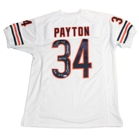 Walter Payton Signed Bears Throwback Jersey with (6) Inscriptions (PSA COA)