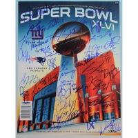 New York Giants Super Bowl XLVI Program Team-Signed By (38) With Eli Manning (Steiner COA)