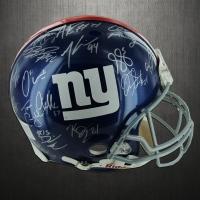 New York Giants Full Size Helmet Team-Signed by (30+) with Eli Manning, Mathias Kiwanuka, Hakeem Nicks, Prince Amukamara (Steiner COA)