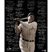 "Baseball Greats ""Babe Ruth"" 20x24 Photo Signed by (41) with Lou Brock, Cal Ripken Jr, Fergie Jenkins, Goose Gossage, Carlton Fisk with Hall of Fame Inscriptions (Steiner COA"