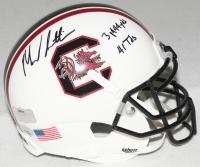 "Marcus Lattimore Signed South Carolina Mini-Helmet Inscribed ""3,444 Yds"" & ""41 TDs"" (Radtke COA & Lattimore Hologram) at PristineAuction.com"