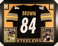 "Antonio Brown Signed Steelers 35"" x 43"" Custom Framed Jersey (JSA COA) at PristineAuction.com"