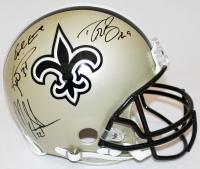 Drew Brees, Earl Campbell, Mark Ingram & Ricky Williams Signed Saints Full-Size Authentic Proline Helmet (JSA COA & Brees Hologram)