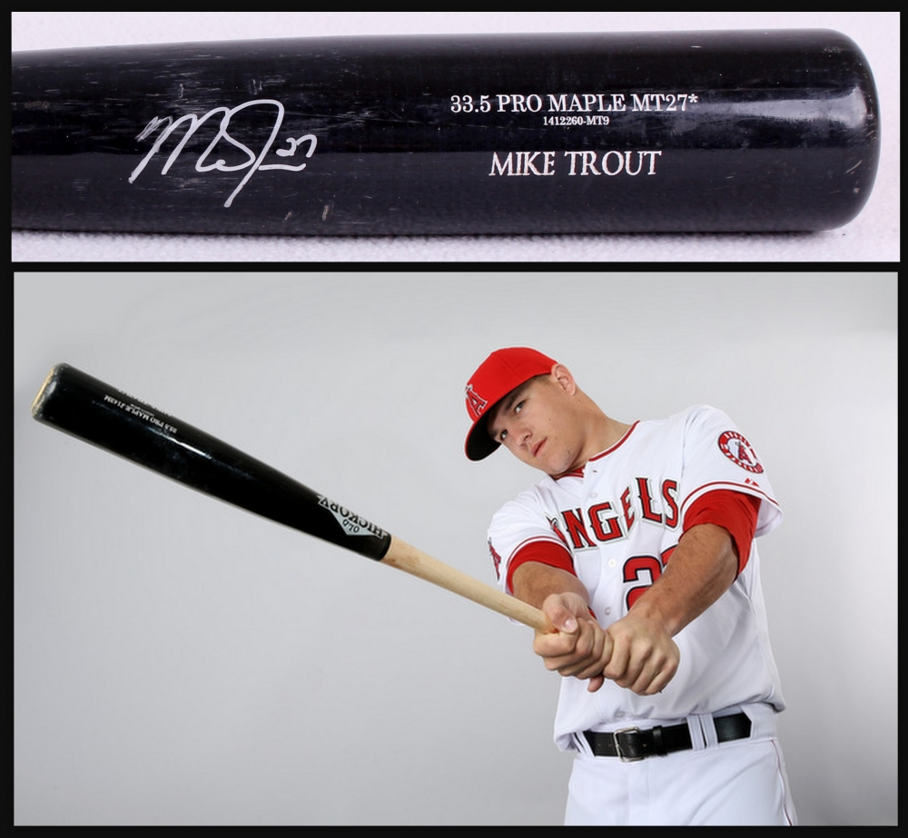 Mike Trout Batting 2014 Online Sports Memorabi...