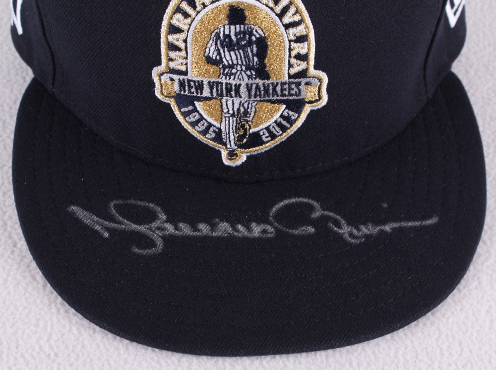 02cc0cb36d4 Mariano Rivera Signed Yankees Fitted Wool Hat with Retirement Logo Patch  (Steiner COA   MLB