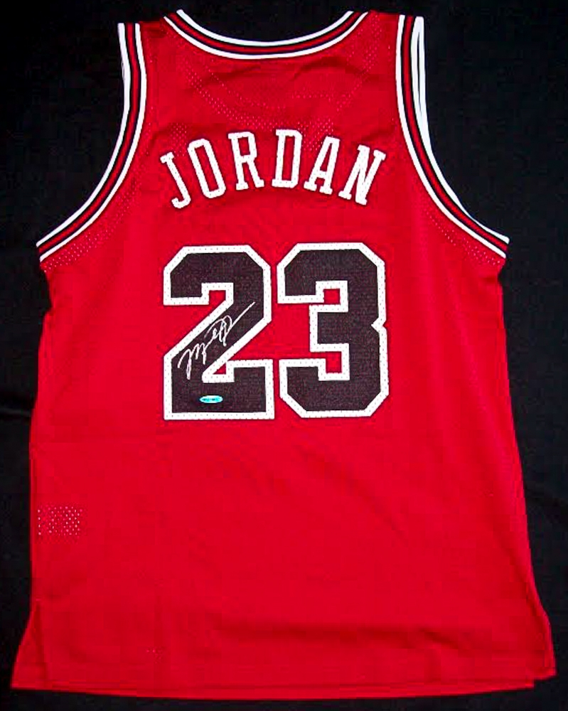 detailed look 70437 46fa9 authentic signed michael jordan jersey