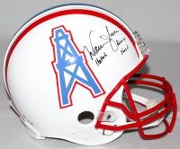"""Warren Moon Signed LE Oilers Full-Size Authentic Pro-Line Helmet Inscribed """"HOF 06"""" & """"Run-N-Shoot"""" (Steiner COA)"""