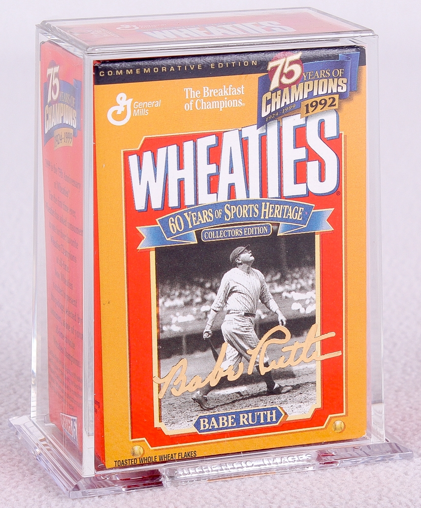 Original Babe Ruth Mini Wheaties Cereal Box