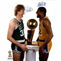Magic Johnson & Larry Bird Signed 16x20 Photo (Steiner COA)
