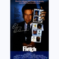 """Chevy Chase Signed """"Fletch"""" 11x17 Photo (Steiner COA)"""