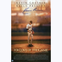 """Kevin Costner Signed """"For the Love of the Game"""" 11x17 Movie Poster Print (Steiner COA)"""