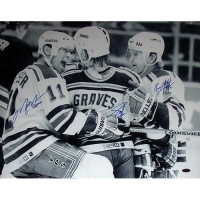 Mark Messier, Adam Graves & Brian Leetch Signed Rangers 16x20 Photo (Steiner COA)