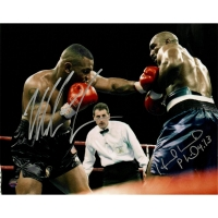 Mike Tyson & Evander Holyfield Signed 8x10 Photo (Steiner COA) at PristineAuction.com