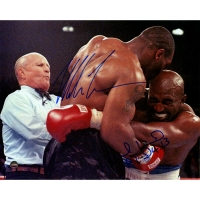 Mike Tyson & Evander Holyfield Signed 8x10 Photo (Steiner COA)