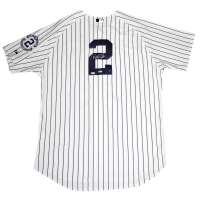 Derek Jeter Signed Yankees Jersey with Retirement Patch (Steiner COA & MLB)