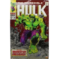 Stan Lee Signed Incredible Hulk 24x36 Poster (Lee Hologram)