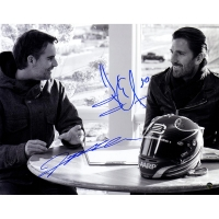 Henrik Lundqvist & Jeff Gordon Signed 11x14 Photo (Steiner COA)