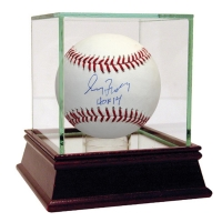 """Greg Maddux Signed Baseball Inscribed """"HOF 14"""" with High Quality Display Case (Steiner COA)"""