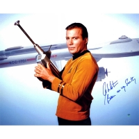"William Shatner Signed ""Star Trek"" 16x20 Photo Inscribed ""Beam me up Scotty"" (Steiner COA)"
