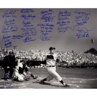 "New York Yankees ""Yogi Berra Tribute"" 20x24 Metallic Photo Team-Signed by (25) with Joe Girardi, Jorge Posada, Goose Gossage, Don Larsen (Steiner COA)"