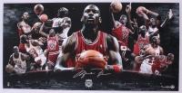 Michael Jordan Signed LE Bulls 18x36 Photo (UDA COA) at PristineAuction.com