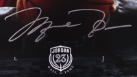 Michael Jordan Signed LE Bulls 18x36 Photo (UDA COA) at PristineAuction.com