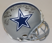 Troy Aikman, Emmitt Smith & Michael Irvin Signed Cowboys Full-Size Authentic Pro-Line Helmet With (3) Super Bowl Inscriptions (Aikman, Irvin, Smith & Prova Holograms)